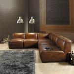 Canapé en cuir d'angle