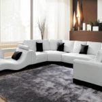 canapé en cuir design blanc