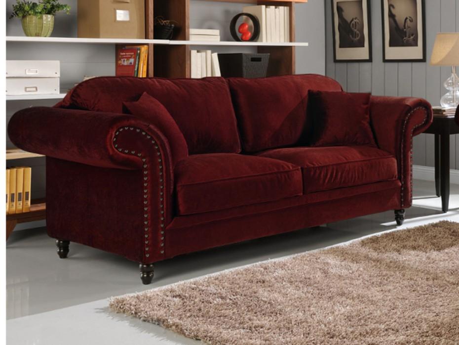 canapé 3 places en tissu velours
