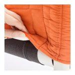 Ikea knopparp canape tissu orange