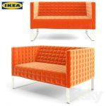 knopparp mini canapé IKEA orange