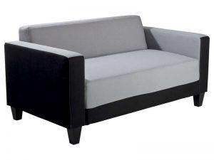 Canapé SCALP 2 places gris noir