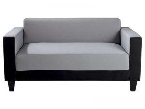 Canapé SCALP 2 places noir gris